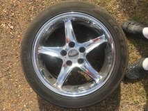 "Chrome Ford Mustang Rims 17"" in Leesville, Louisiana"