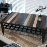 Pallet Wood and Metal Table in Bartlett, Illinois