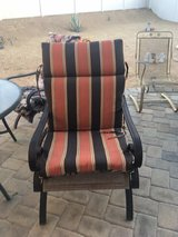 Set of outdoor chairs and cushions in 29 Palms, California