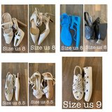 Women's shoes size US 8, 8.5, 9 leather, canvas sandals, flats, wedges, heels, sneakers in Wiesbaden, GE