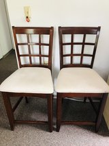Tall chairs with solid wood frame in Bartlett, Illinois