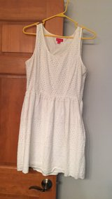 White summer dress in DeKalb, Illinois