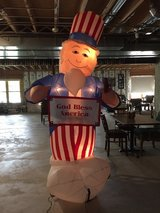 8ft electric blow up with light Uncle sam in Yorkville, Illinois