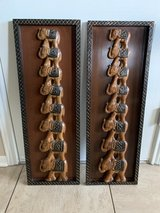 carved wooden elephant wall decor in Fort Hood, Texas