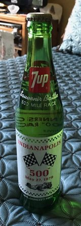 1979 7-UP Indy 500 Bottle in Westmont, Illinois