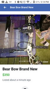 Brand new Bear Bow in Fort Campbell, Kentucky
