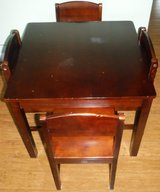 SALE PENDING - Kids Wood Table + 4 Chairs in Westmont, Illinois