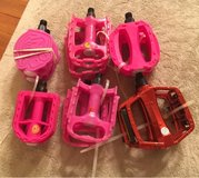 Pink & Red Bike Pedals in Plainfield, Illinois