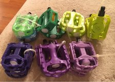 Green & Purple Bike Pedals in Plainfield, Illinois