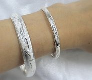 .925F STERLING SILVER ASSORTED BANGLES WITH CLASP in Okinawa, Japan