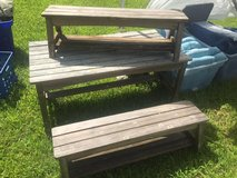 wooden picnic table in Fort Campbell, Kentucky
