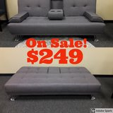 Brand New Grey Convertable Sofa Bed in Fairfield, California