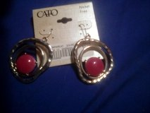 pink and silver earrings $3.00 new from cato in Camp Lejeune, North Carolina