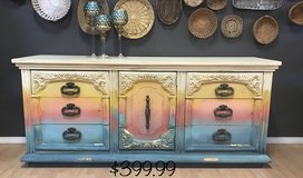 Boho shabby dresser buffet entertainment center in Fort Leonard Wood, Missouri