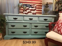 Dresser buffet entertainment center shades of aqua blue farmhouse entertainment center buffet nu... in Fort Leonard Wood, Missouri