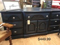 Beautiful entertainment center buffet dresser dark blue navy in Fort Leonard Wood, Missouri