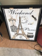framed Paris print in The Woodlands, Texas