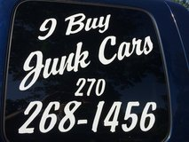I buy junk cars in Fort Knox, Kentucky