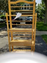 Butcher Block Shelving. Scratches and paint on it but in good stable condition in St. Charles, Illinois