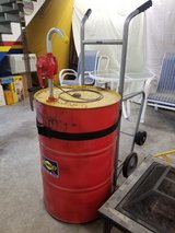 55 gallon drum with hand pump and dollie in Conroe, Texas