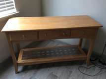 Solid wood sofa table in The Woodlands, Texas