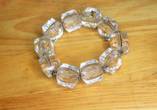 Clear Bead Chunky Stretch Bracelet Bead Chain in Houston, Texas