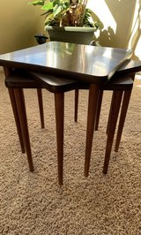 VINTAGE STACKING TABLES. SET OF 3. Circa 1960's. (Back in the days of TV Dinners) VERY VERSATILE... in Joliet, Illinois