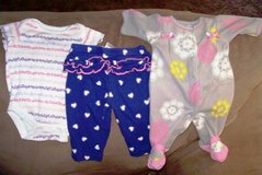Newborn Clothes 3 to 4 pieces in each set in Alamogordo, New Mexico