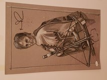 Autographed Norman Reedus The Walking Dead drawing in Conroe, Texas