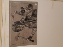 Norman Reedus autographed drawing in Conroe, Texas