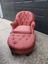 Vintage Chair and Ottoman in Houston, Texas