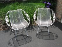 Vintage MidCentury Woodard Sculptura Chairs with Chantilly Rose Arms in Chicago, Illinois
