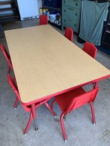 Sturdy craft table/6 chairs in Lockport, Illinois