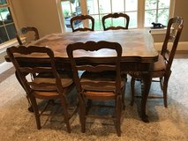Oak French Table and 6 Chairs in Conroe, Texas
