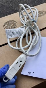 10' White Extension Cord in Lockport, Illinois