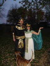 Halloween costumes, pharaoh and Cleopatra in Naperville, Illinois