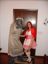 Red Riding hood and wolf costumes in Naperville, Illinois