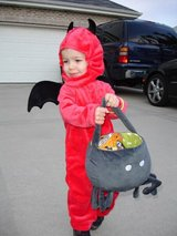 Halloween costume devil in Naperville, Illinois