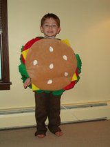 Burger Halloween costume in Naperville, Illinois