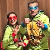 Halloween costume Ninja Turtles.  Sweat shirt & masks in Naperville, Illinois
