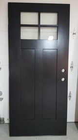 Door Fiberglass/Brand New - Black in Chicago, Illinois