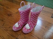 Girls Hello Kitty Rainboots, Size 13-1Y in Fort Campbell, Kentucky
