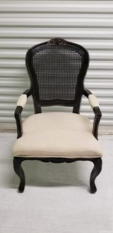 Espresso and White ARM CHAIR - Like New in Kingwood, Texas
