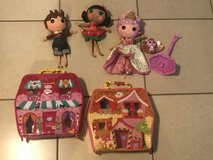 Lalaloopsy Lot of Large Dolls And Playhouse Cases EUC in Fairfield, California
