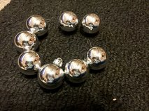 Silver ball Christmas Ornaments - Set of 8 in Oswego, Illinois