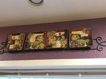 Wine themed plate set & rack in Travis AFB, California
