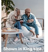 """CorduRoy's foam NEST King """"Bean Bag/Sac""""Chair & Bed, King Bed Protector, Footpod (footstool) & f... in The Woodlands, Texas"""