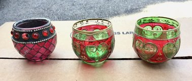 Christmas Glass Votive or Tealight Holders in St. Charles, Illinois