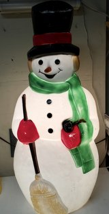 """Vintage Top Hat Hard Plastic Snowman 39"""" Blow Mold Light Up Outside Display in St. Charles, Illinois"""