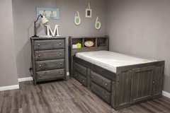 Twin Captain's Bed with Matching Chest if Drawers in Kingwood, Texas